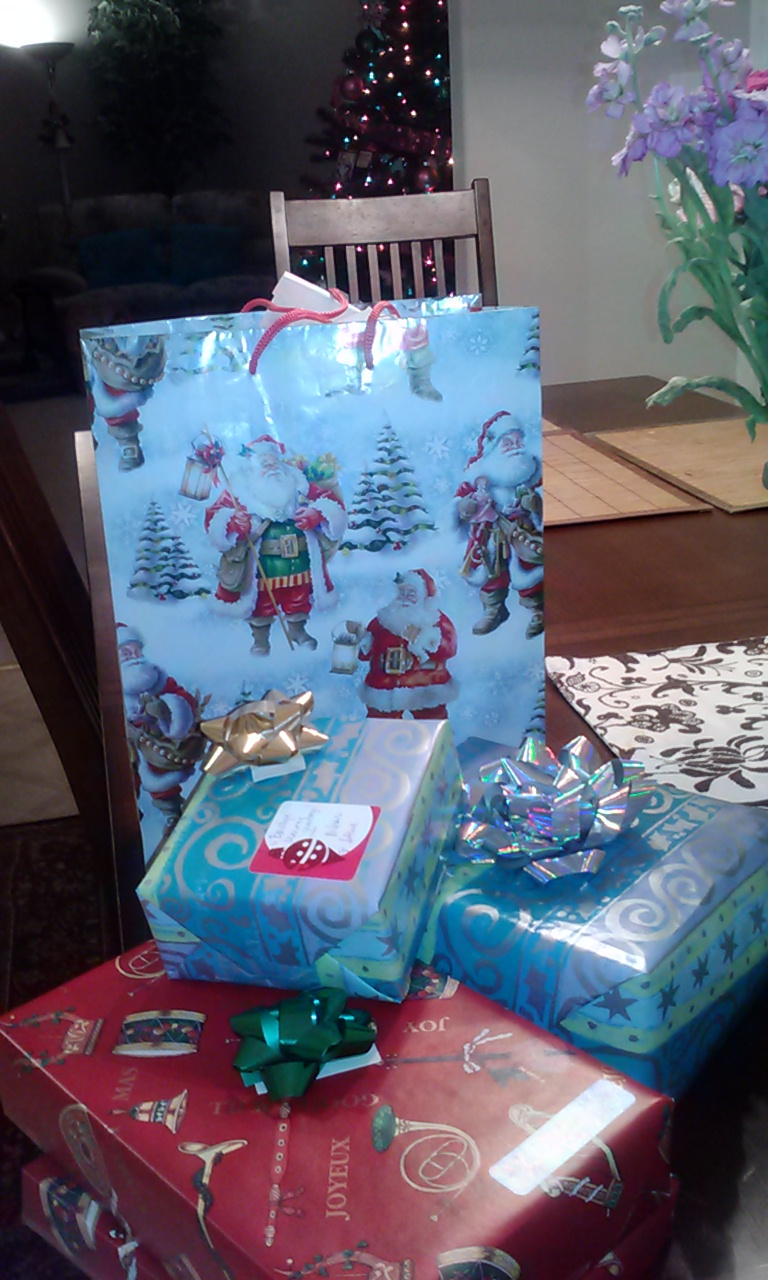Presents for the Jones family are ready.