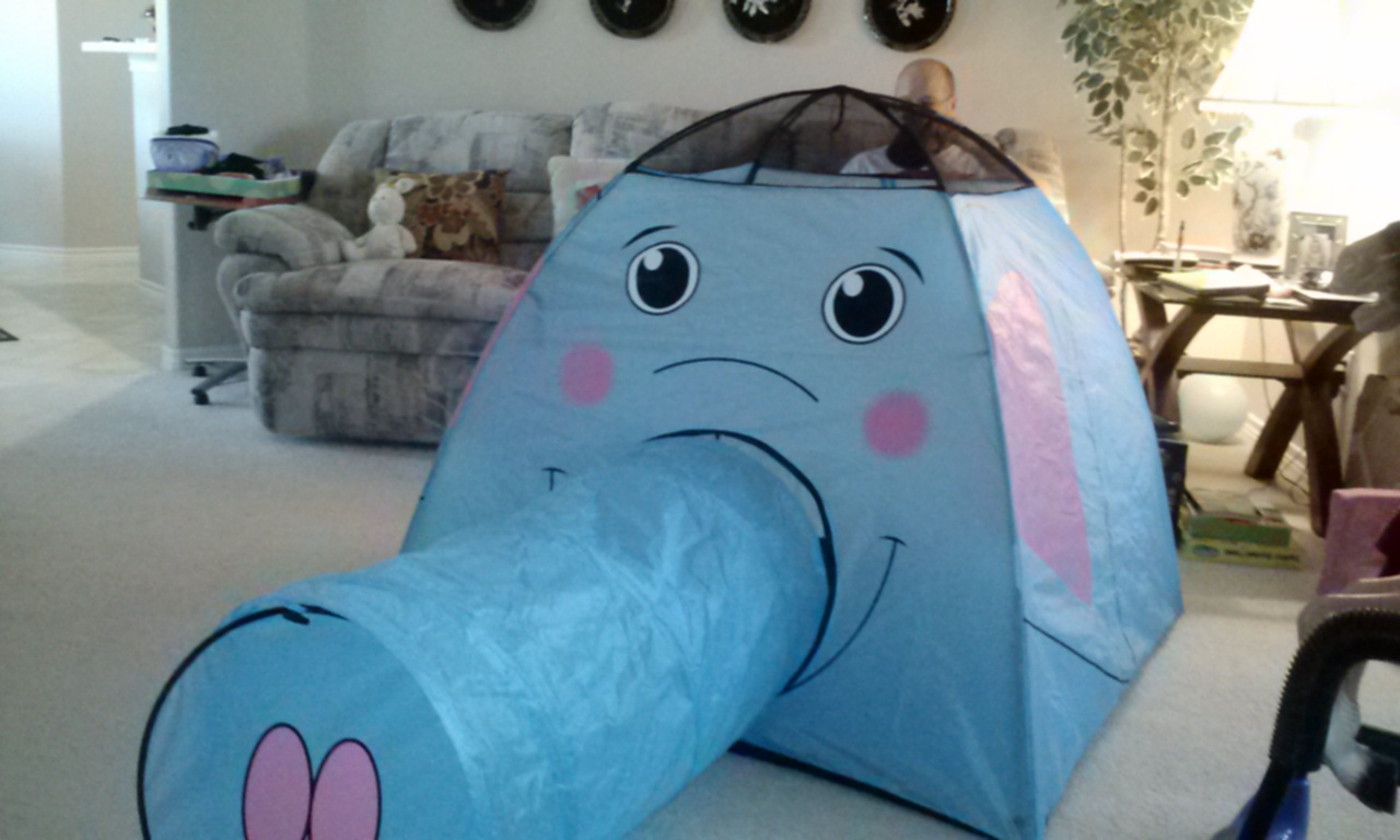Elephant tent. So cute!