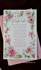 I love the words in this card.