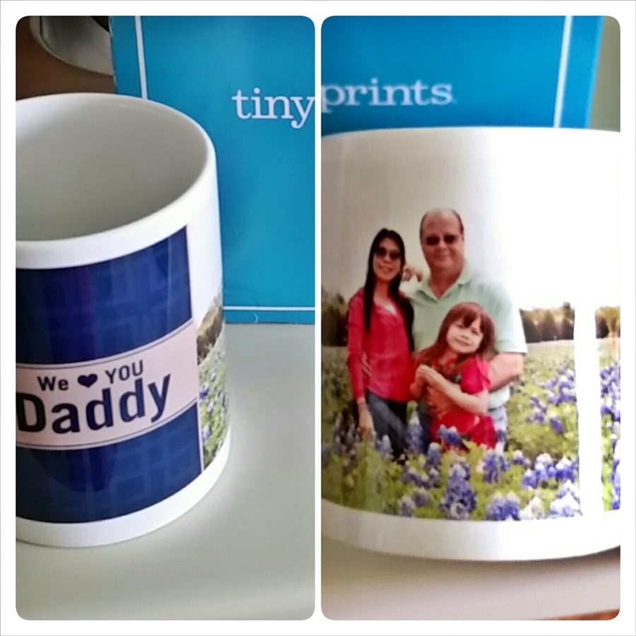Personalized mug from TinyPrints.com