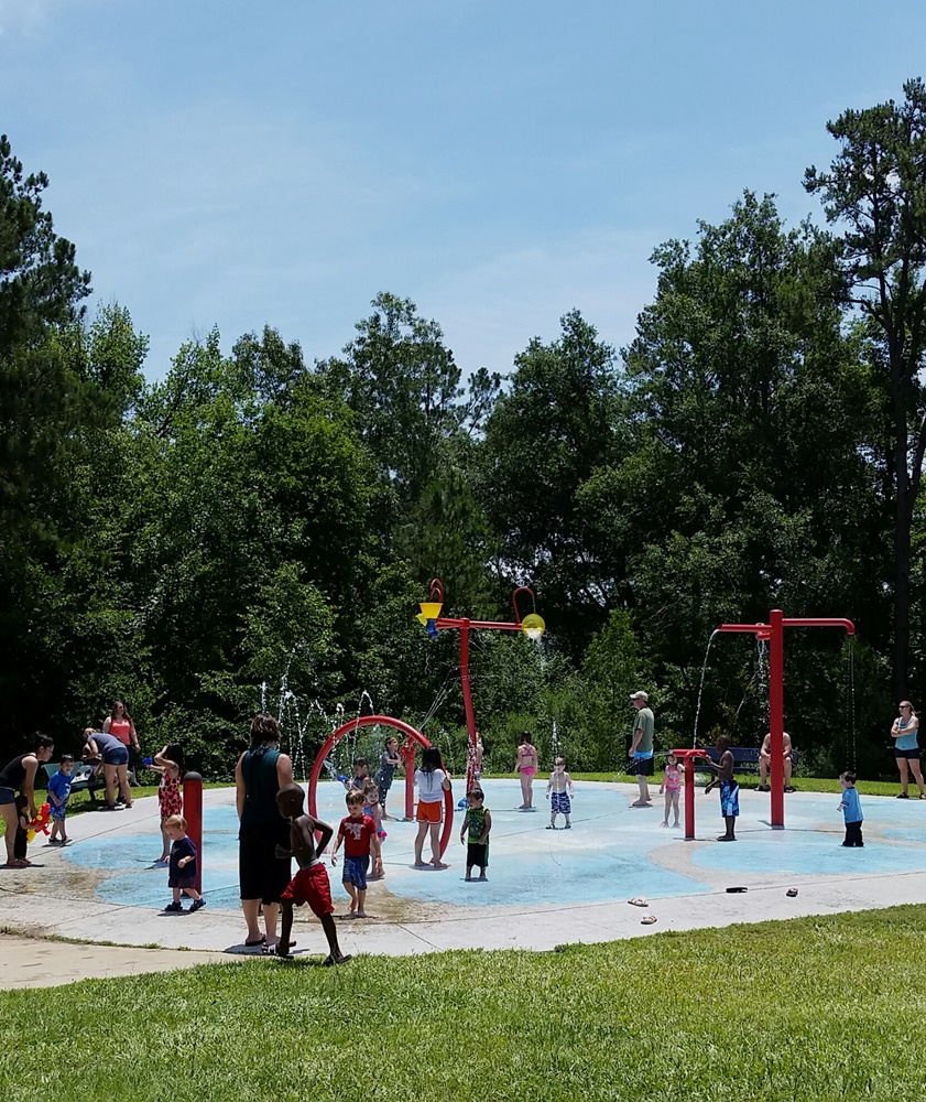 Splash ground and spray park.