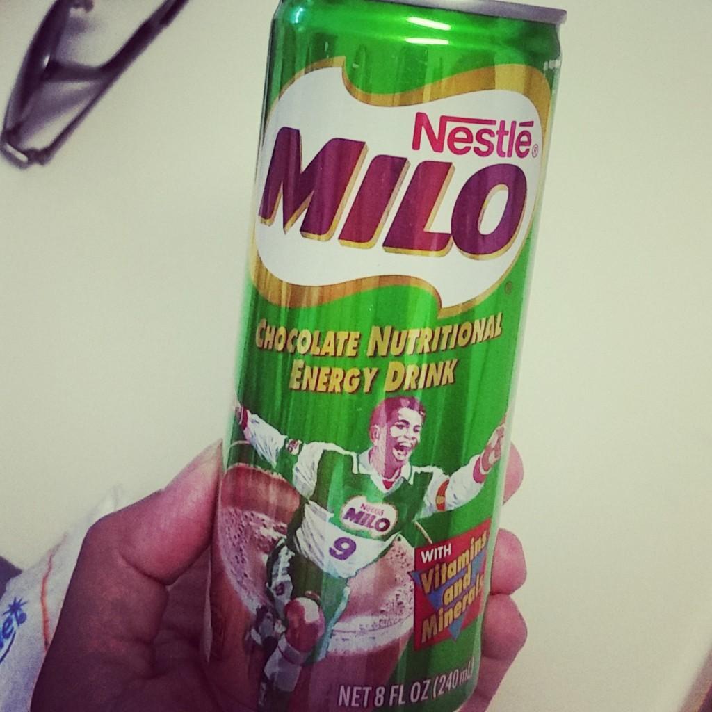 Milo energy drink.