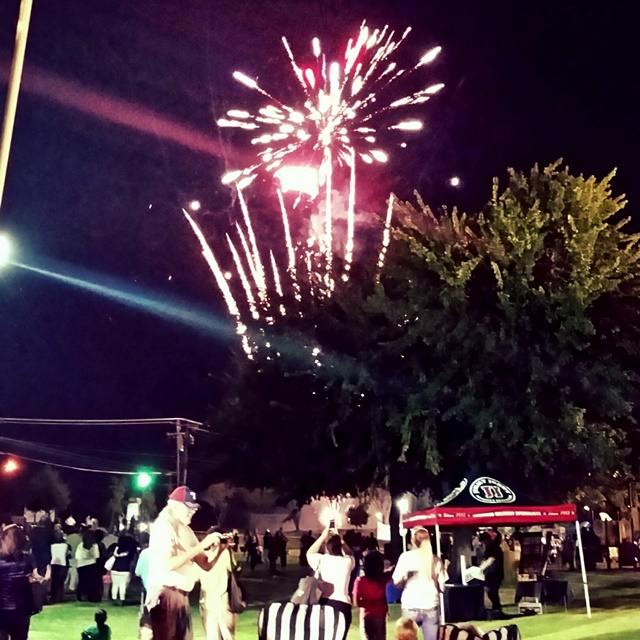 Fireworks 2015 Texas National Night Out