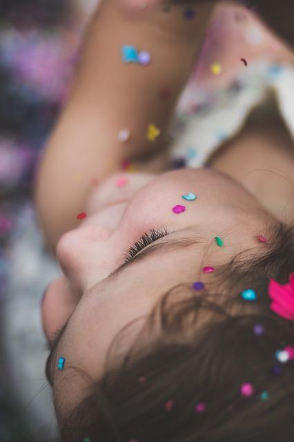 a-girl with confetti