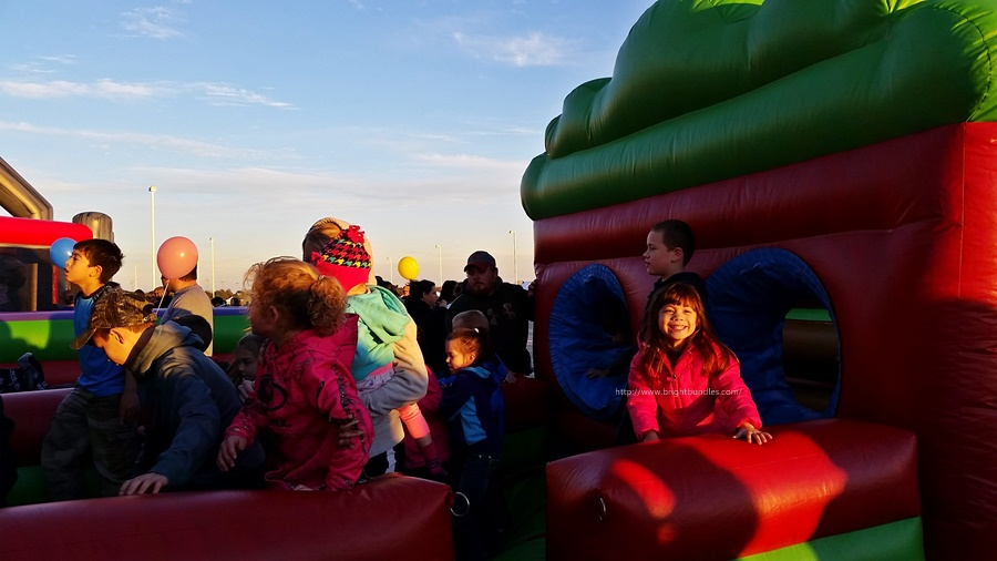 Obstacle course bounce house.