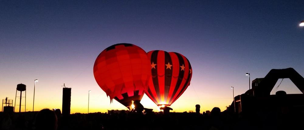 Hot air balloons.