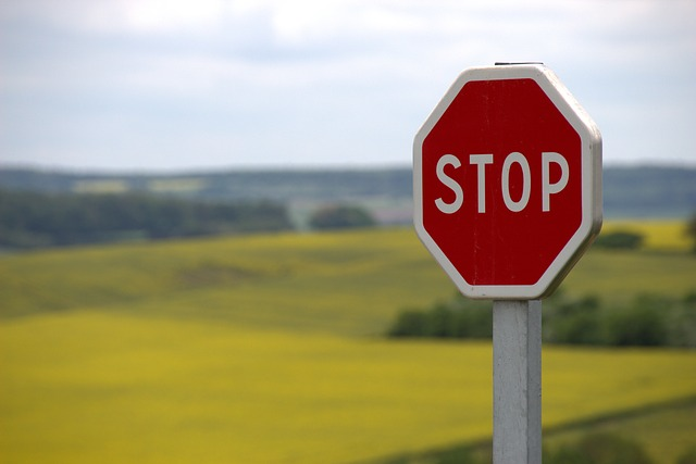 a-stop sign