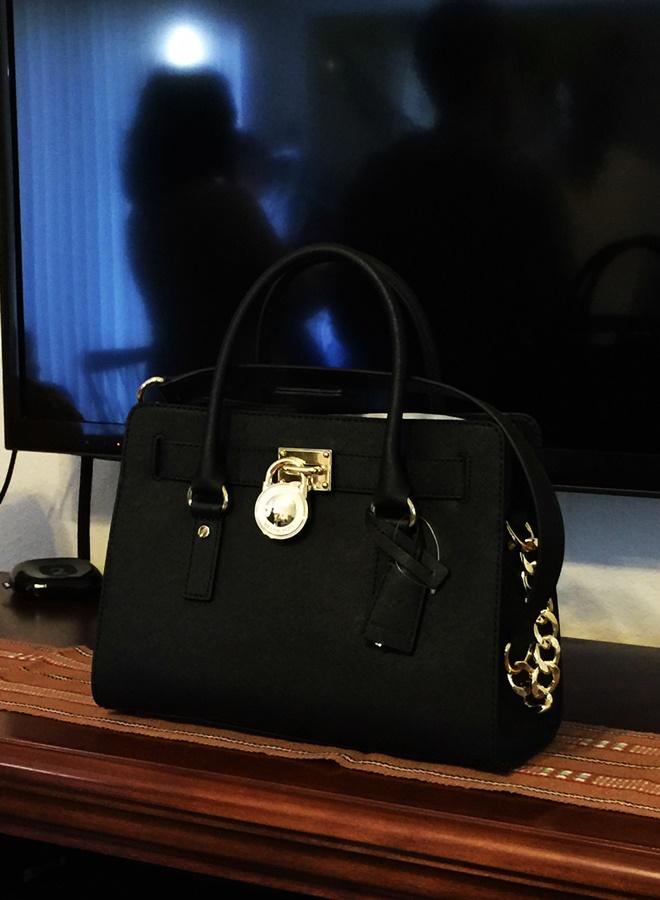 Michael Kors Hamilton Black Handbag